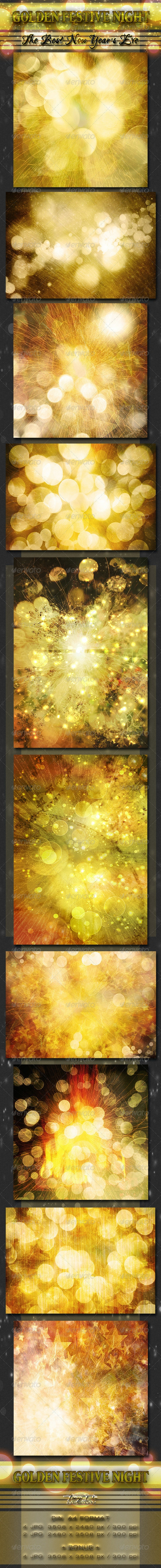 Golden Festive Night - Miscellaneous Backgrounds