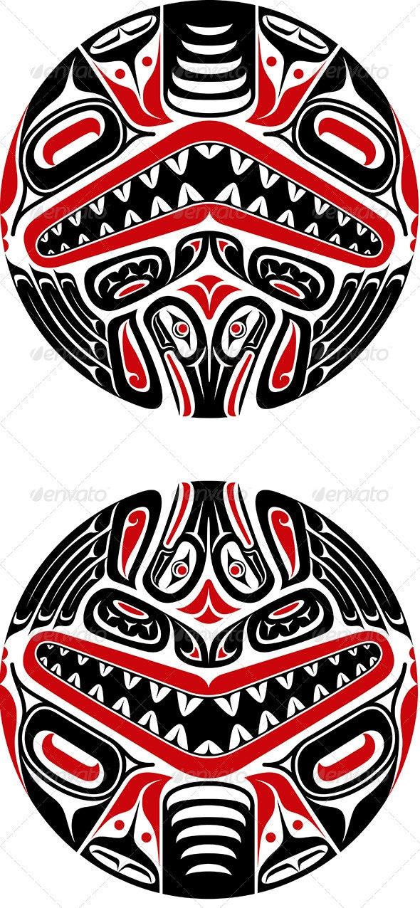 Haida Style Tattoo Design - Tattoos Vectors