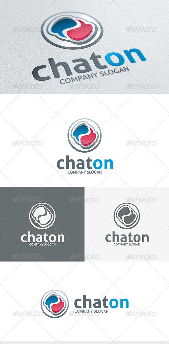 Chat On Logo - Vector Abstract