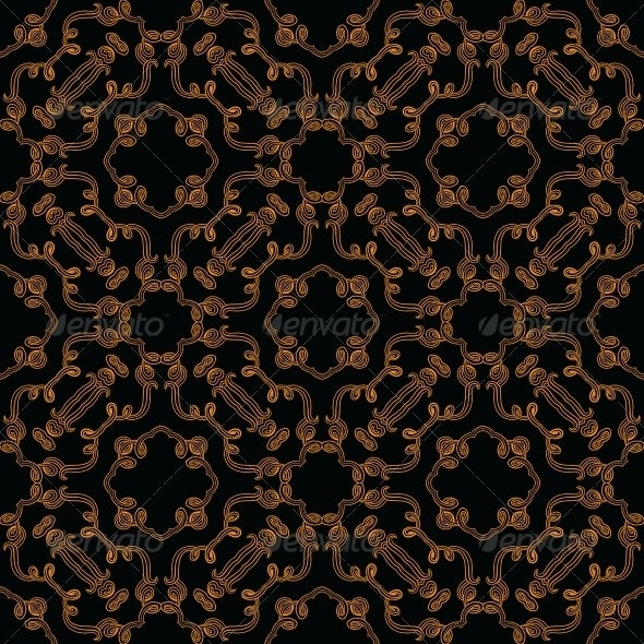 Seamless Vector Baroque and Rococo Pattern - Patterns Decorative