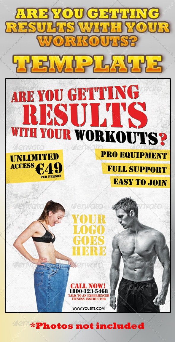 Are You Getting Results With Your Workouts? Flyer - Sports Events