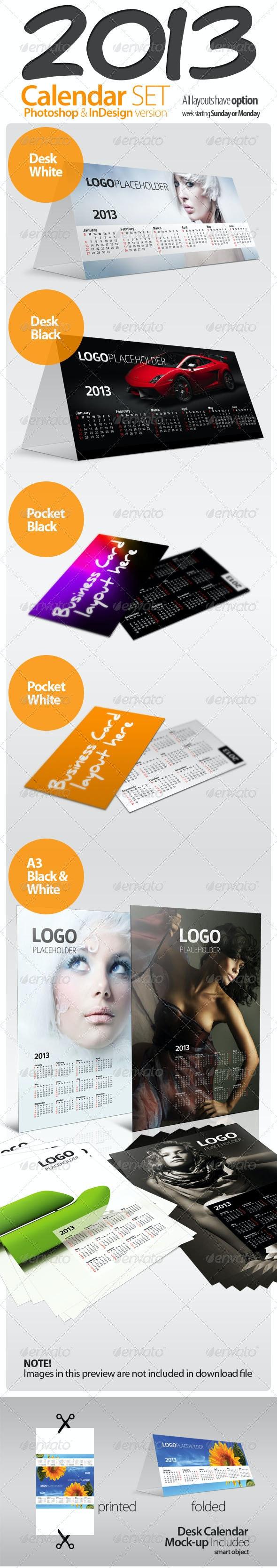 Calendar 2013 Complete Set - Calendars Stationery