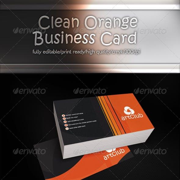 Clean Orange [Business Card]