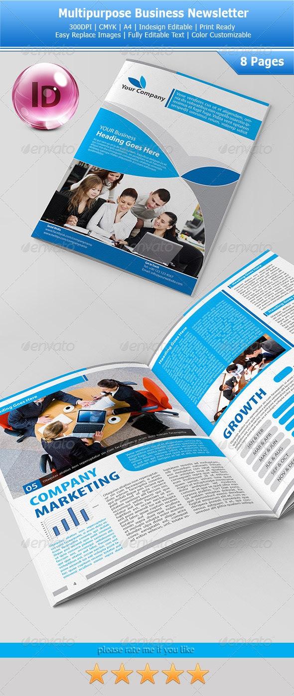 Multipurpose Business Newsletters - Newsletters Print Templates