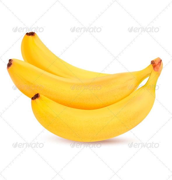 Fresh Bananas - Vector - Food Objects