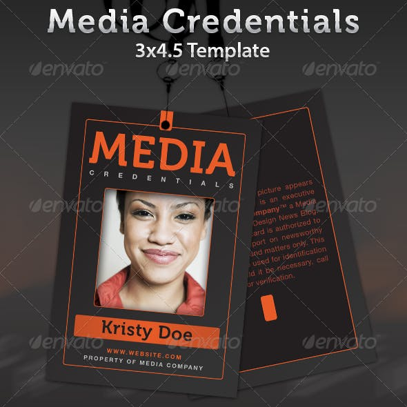 Media Credentials Template