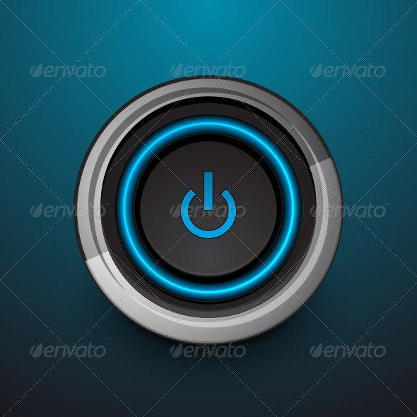 Vector Power Button - Web Elements Vectors