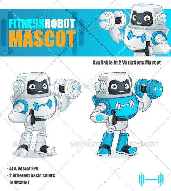 Fitness Robot Mascot - Miscellaneous Characters