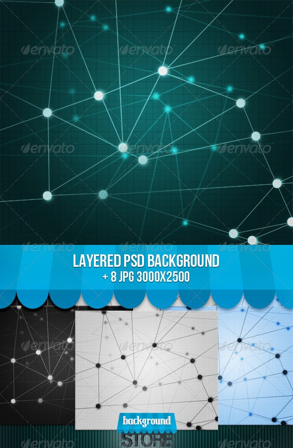 Network Texture Background  - Tech / Futuristic Backgrounds