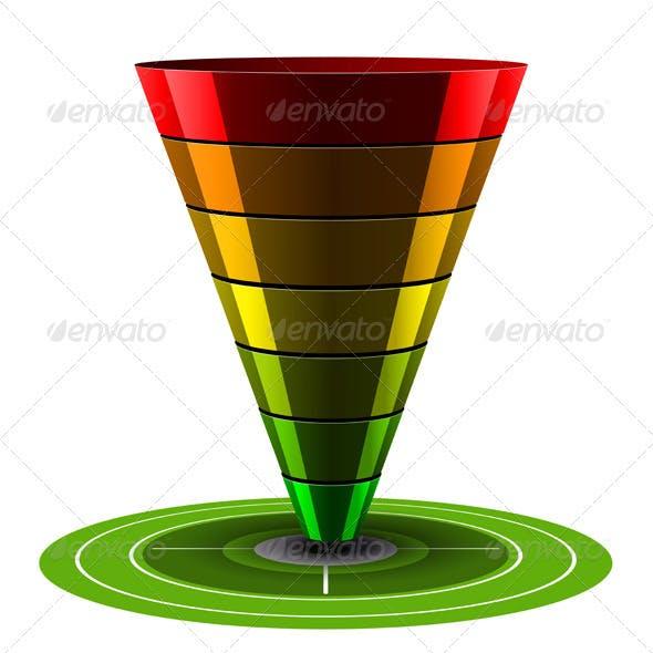 Conversion or Sales Vector Funnel