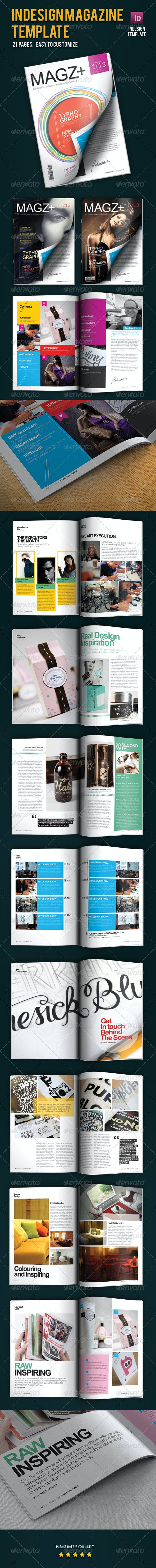 Indesign Magazine Template - Magazines Print Templates