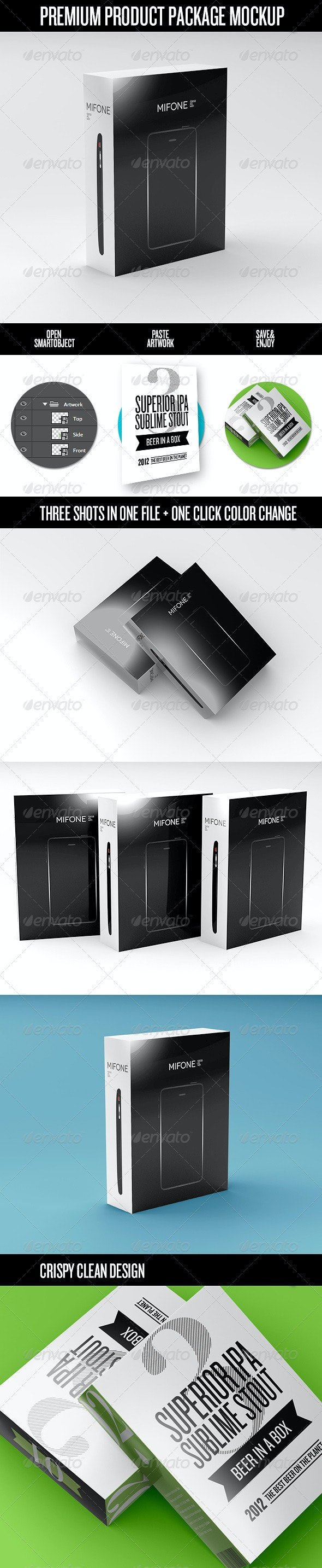 Premium Product Box / Package Mock-Up - Miscellaneous Packaging