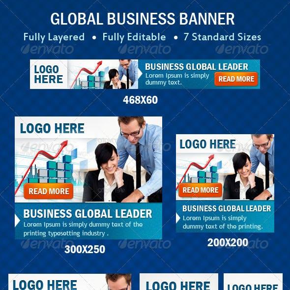Global Business Banner