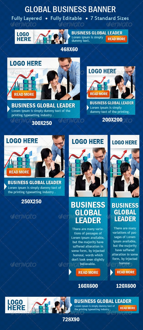 Global Business Banner - Banners & Ads Web Elements