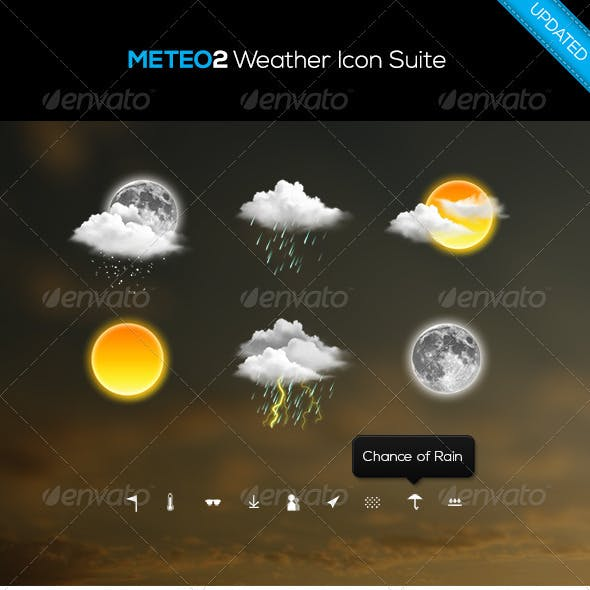 Meteo Weather Icon Suite