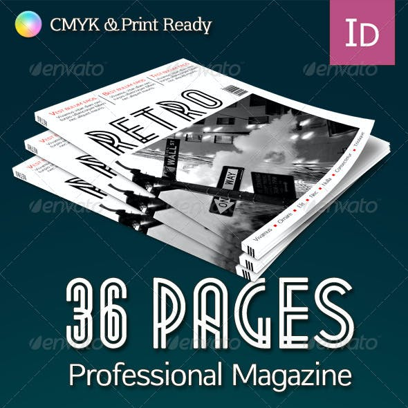 Retro Professional & Clean Magazine