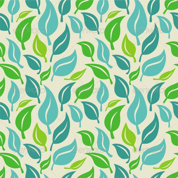 Vector Seamless Patterns with Leaves