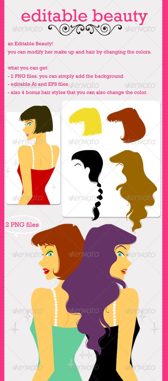 Editable Beauty - People Characters