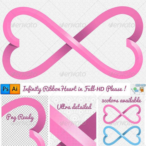 Elegant Heart Infinity Ribbon Full-Hd