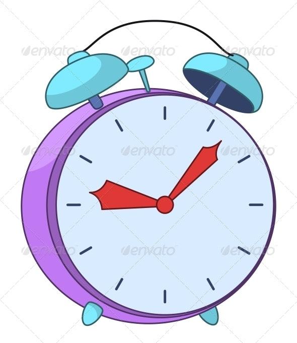 Cartoon Alarm Clock - Man-made Objects Objects