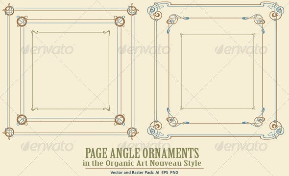 Page Angle Ornaments - Borders Decorative