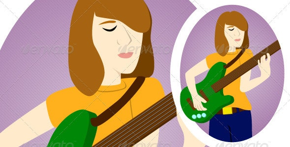 Lady Guitarist - People Characters