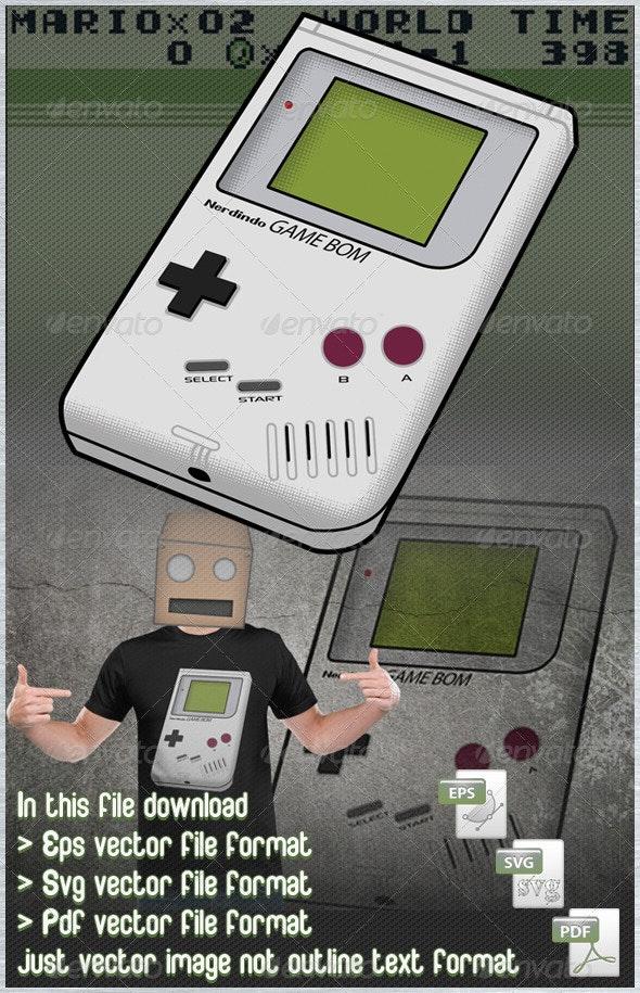 Game Boy Vector - Retro Technology