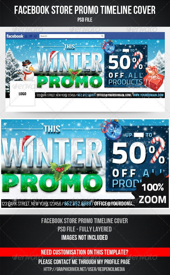 FB Winter Promo Timeline Cover - Facebook Timeline Covers Social Media