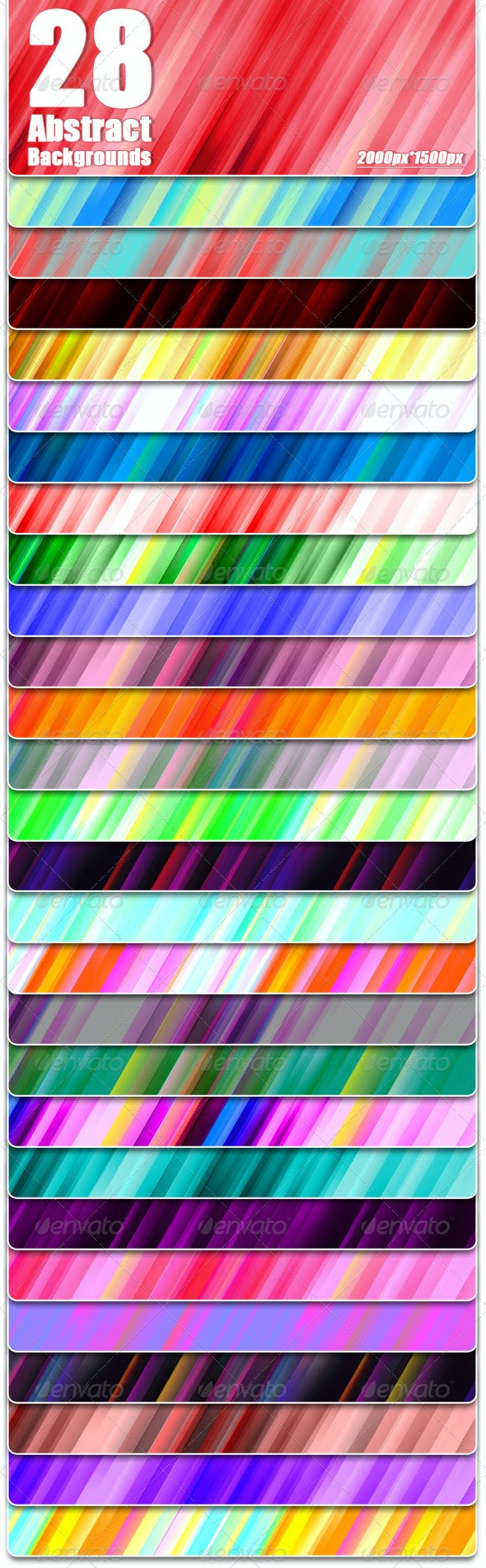 Abstract Background Set - Patterns Backgrounds