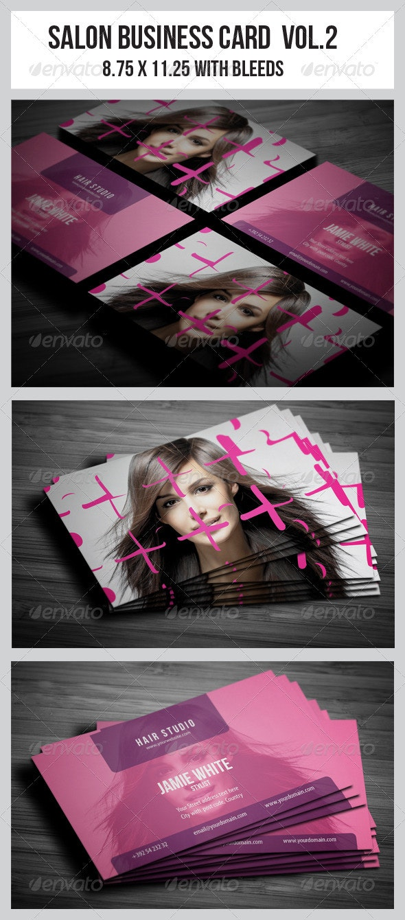 Salon Business Card Vol.2 - Industry Specific Business Cards