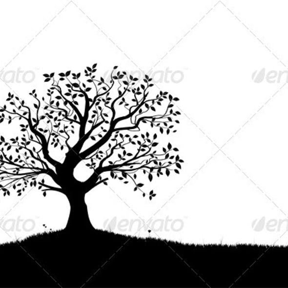 Vector Tree Silhouette
