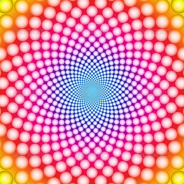 Vector Colorful Optical Illusion Background - Backgrounds Decorative