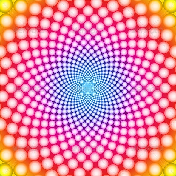 Vector Colorful Optical Illusion Background