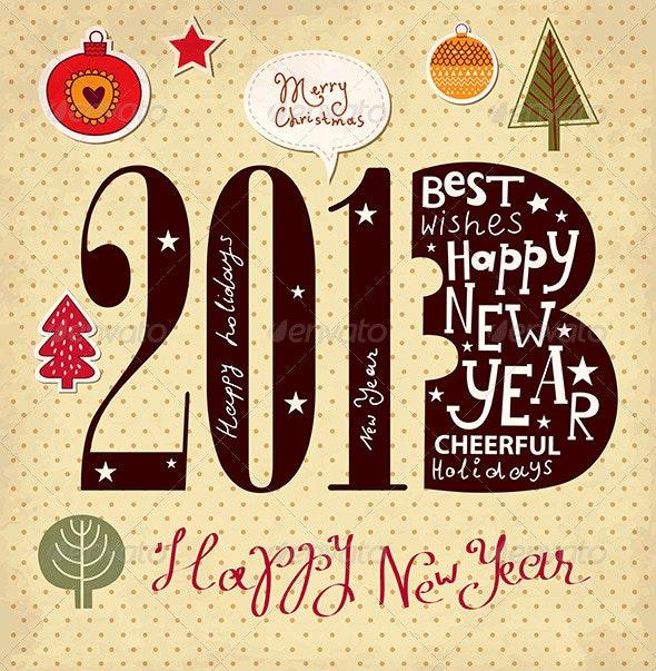 New Year Card - New Year Seasons/Holidays