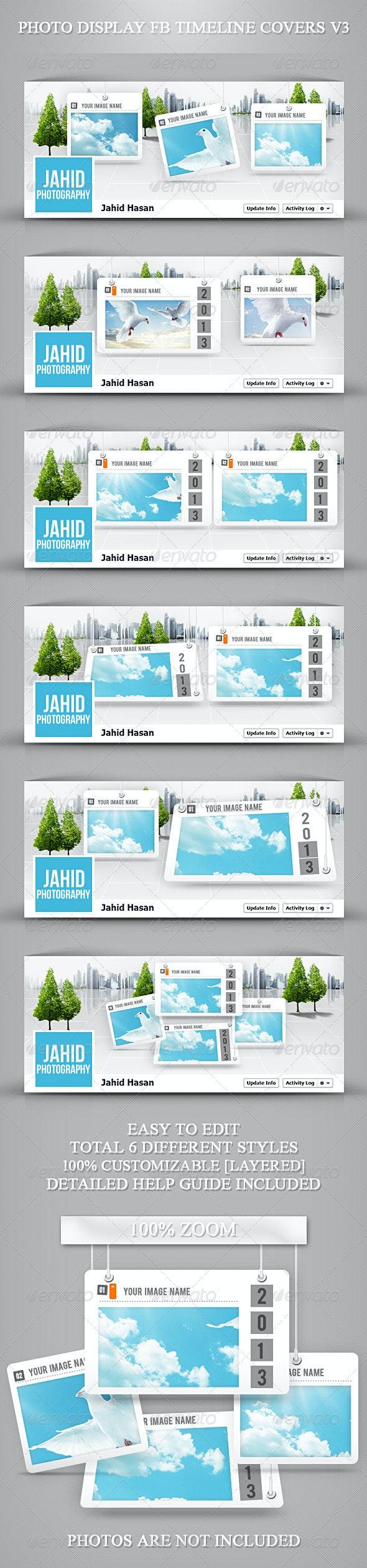 Photo Display FB Timeline Covers V3 - Facebook Timeline Covers Social Media