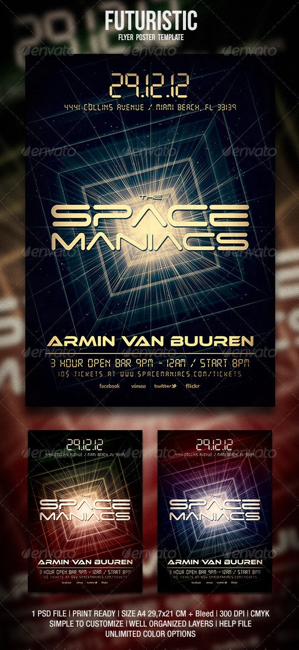 Futuristic Flyer / Poster 2 - Events Flyers