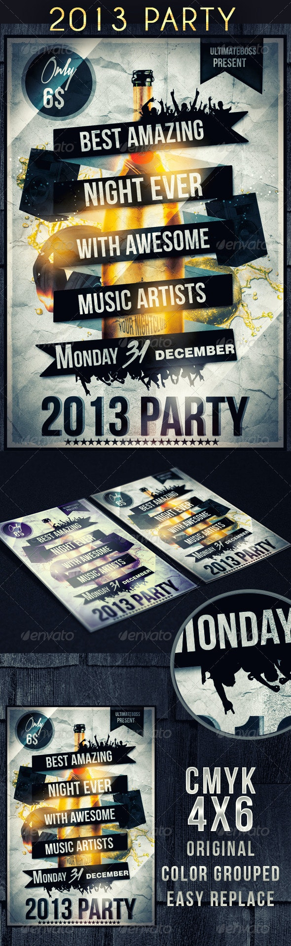 2013 Party Flyer - Clubs & Parties Events