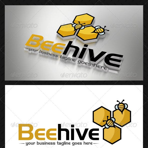 Bee Hive Logo Template