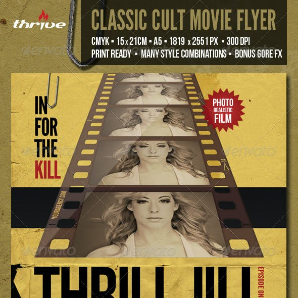 Classic Cult Movie Flyer - A5 - 2 Styles in One