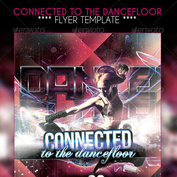 Connected to the dancefloor Party Flyer