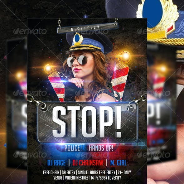 STOP Police Flyer Template