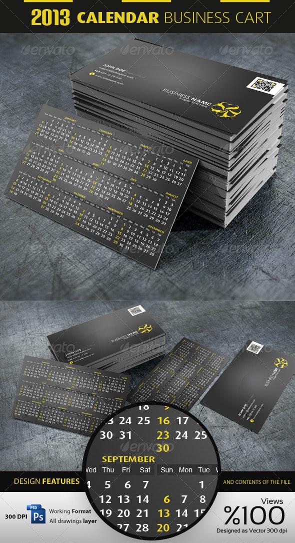 2013 Calendar Business - Personal Cartvisit - Corporate Business Cards