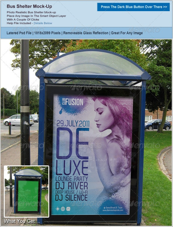 Bus Shelter Poster Mockup - Posters Print