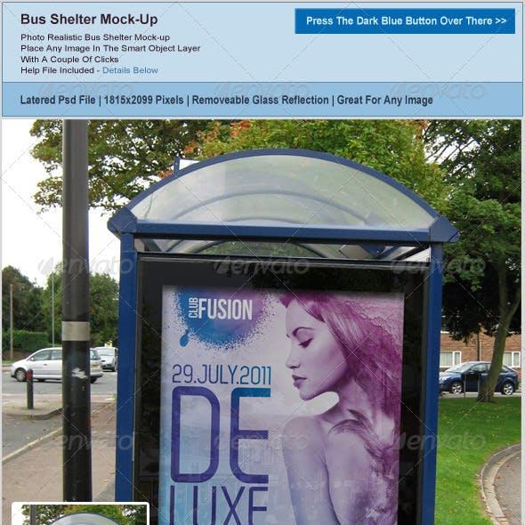 Bus Shelter Poster Mockup