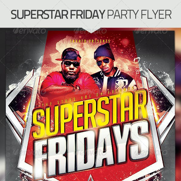Superstar Fridays Party Flyer