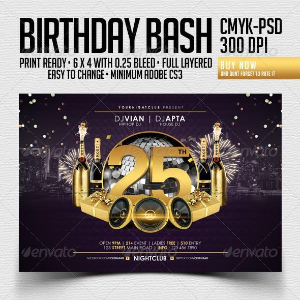 Birthday Bash Flyer Template