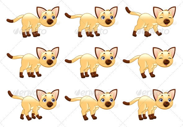 Cat Walking Animation - Animals Characters
