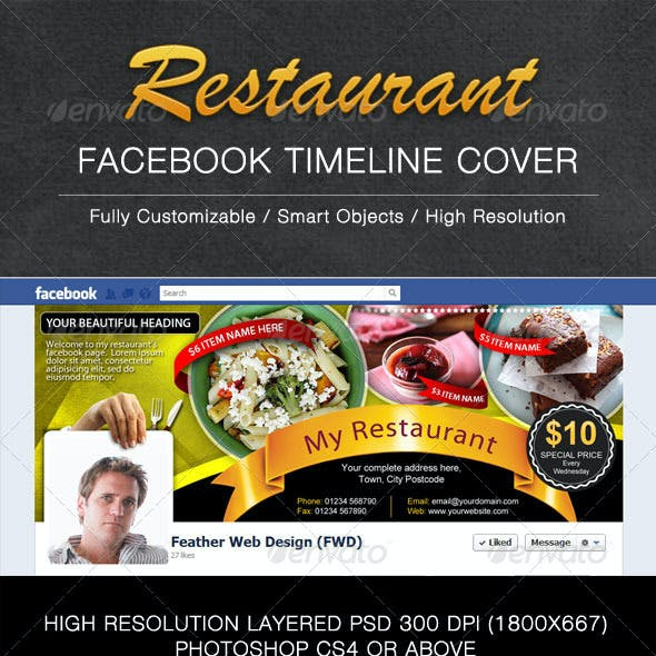 Restaurant FB Timeline Cover