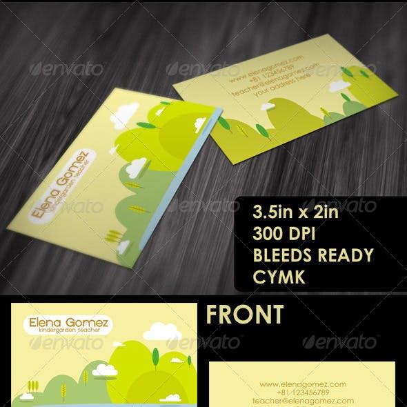 Teacher's Friendly Business Card