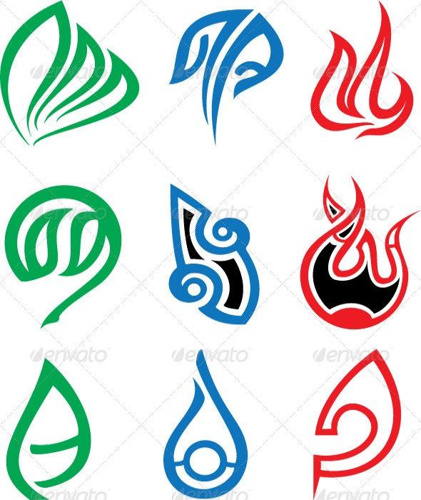 Abstract Elements Set - Tattoos Vectors